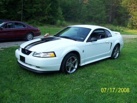 1999 Ford Mustang GT Coupe in Crystal White