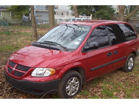 2005 Dodge Caravan SE in Inferno Red Crystal Pearl