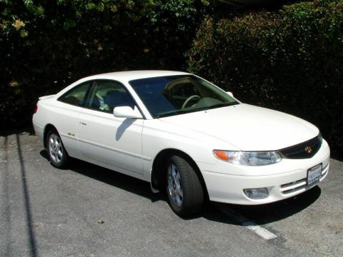 2000 Toyota Solara Supercharged in Diamond White Pearl