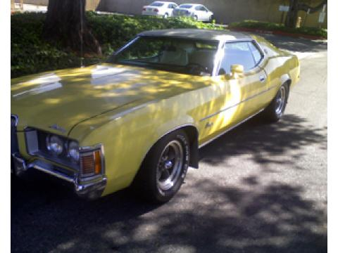 1972 Mercury Cougar XR-7 Convertible in Yellow