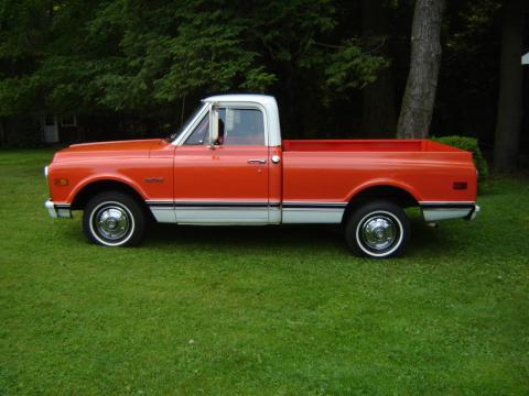 1970 Chevrolet C10  in Orange/White