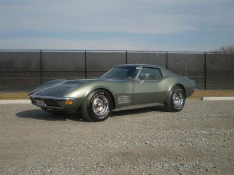 Corvette Stingray  Specs on Steel Cities Grey 1971 Chevrolet Corvette Stingray Coupe With Saddle