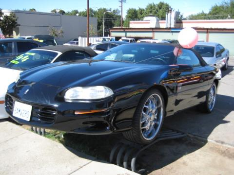 2001 Chevrolet Camaro Convertible in Onyx Black