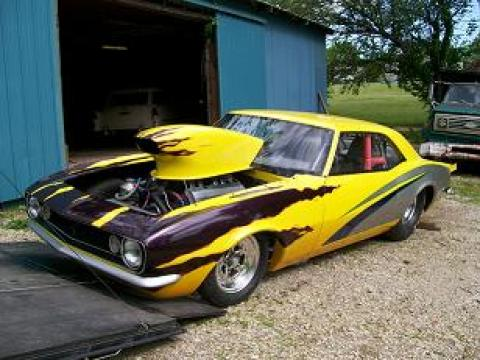1968 Chevrolet Camaro Pro Stock in Yellow