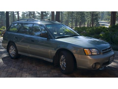 2002 Subaru Outback Wagon in Timberline Green