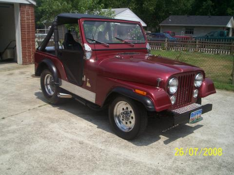 1977 Jeep CJ5 Pro Street in Autumn Red Metallic