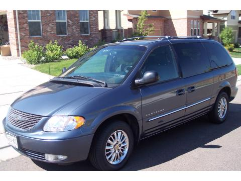 2001 Chrysler Town & Country Limited in Steel Blue Pearl