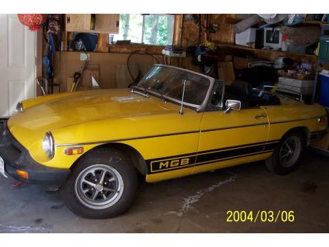 1979 MG MGB Roadster in Yellow