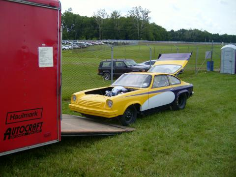 1976 Chevrolet Vega Race Car in Yellow/White/Purple