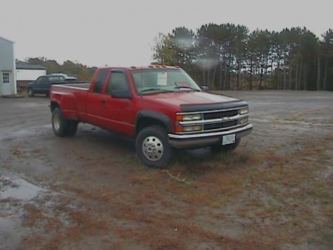 1997 Chevrolet C/K 3500 K3500 Silverado Extended Cab 4x4 Dually in Victory Red