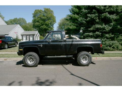1984 Chevrolet K10 Silverado in Black