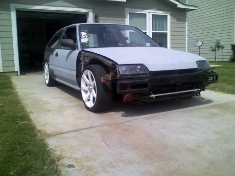 1991 Honda Civic DX Hatchback in Primer Gray/Black