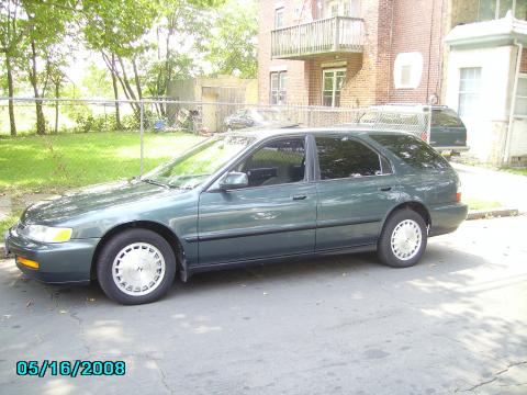 Dark Eucalyptus Green Pearl Metallic 1996 Honda Accord EX Wagon with Gray