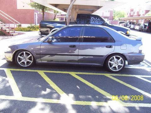 1995 Honda Civic LX Coupe in Blue-Purple