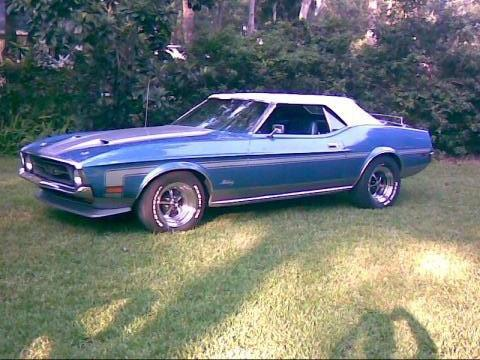 1971 Ford Mustang Convertible in Silver-Blue Metallic