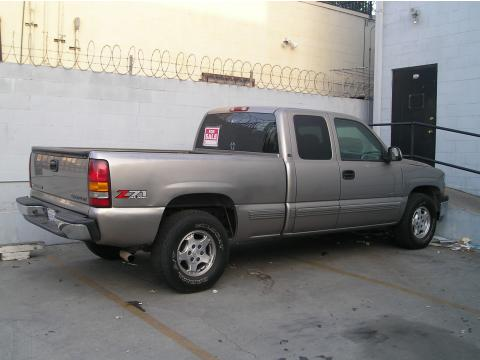 2000 Chevrolet Silverado 1500 LS Extended Cab 4x4 in Light Pewter Metallic