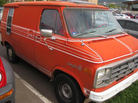 1979 Chevrolet Chevy Van G10 Passenger Conversion in Orange