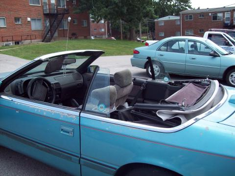 1994 Chrysler Lebaron Convertible. Teal 1994 Chrysler LeBaron GTC
