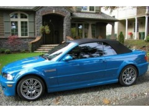 2003 BMW M3 Convertible in Laguna  Blue