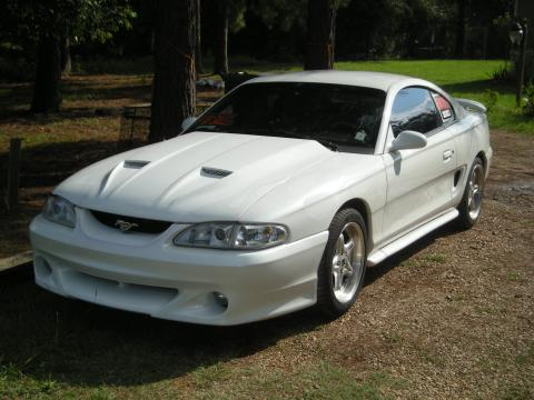 1994 Ford Mustang GT Coupe Custom in White w/Ghost Flames
