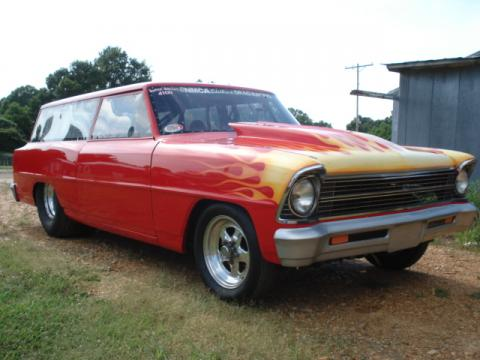 1967 Chevrolet Chevy II Wagon Race car-Super Gas/ Super street in Red