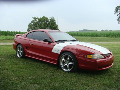 1996 Ford Mustang GT Coupe in Laser Red Metallic