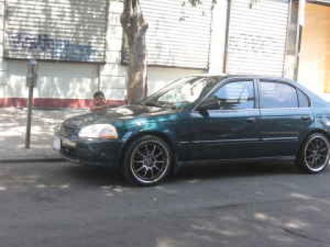 1998 Honda Civic LX Sedan in Cypress Green Pearl