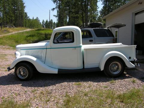 1936 Ford Pickup  in BlueGrass Pearl (White Base)