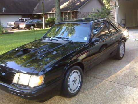 1986 Ford Mustang SVO in Black