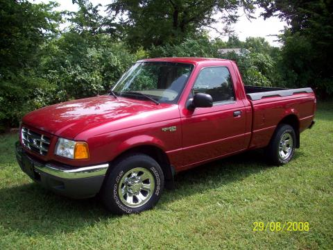 2001 Ford Ranger XLT Regular Cab in Toreador Red Metallic