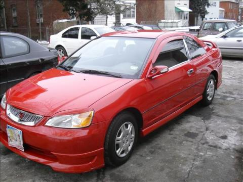 2001 Honda Civic LX Coupe in Rallye Red