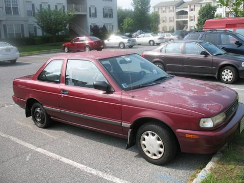 1994 Nissan Sentra Coupe in Ruby Red Pearl Metallic