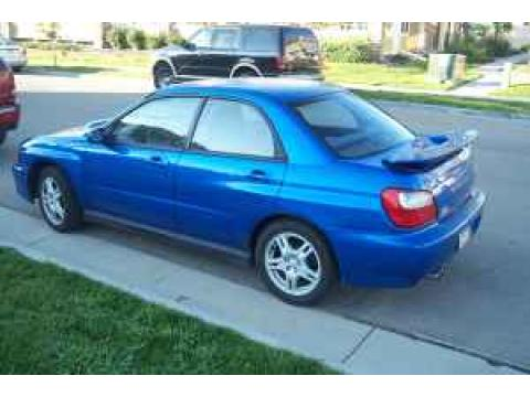 2003 Subaru Impreza WRX Sedan in WR Blue Pearl