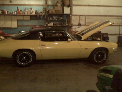 1971 Chevrolet Camaro Z28 in Yellow w/Black Racing Stripes