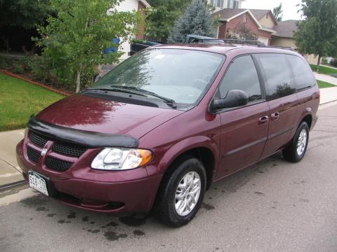 ... 2002 Dodge Grand Caravan Sport In Dark Garnet Red Pearl