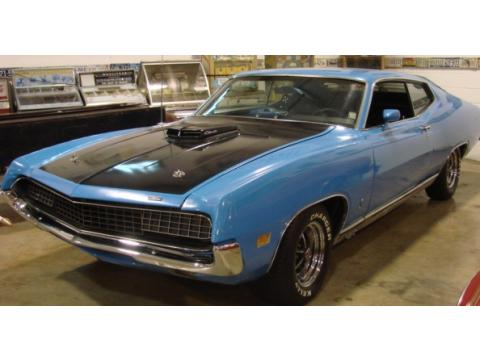 1971 Ford Torino GT 2 Door Coupe in Blue/Black