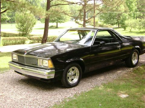 1981 Chevrolet El Camino  in Black
