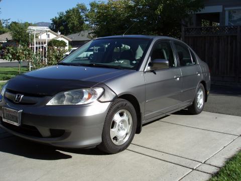 2005 Honda Civic Hybrid Sedan in Magnesium Metallic