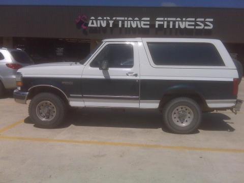 1995 Ford Bronco XLT 4x4 in White/Green