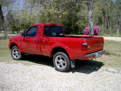 2003 Ford Ranger Edge Regular Cab in Bright Red
