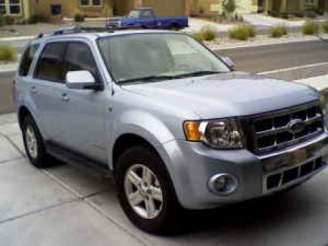 2008 Ford Escape Hybrid 4WD in Light Ice Blue