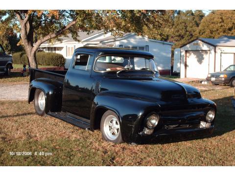 1956 Ford Pro Street Truck Custom Race Truck in Triple Black