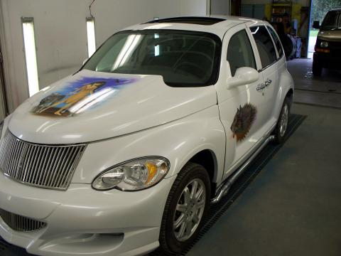2007 Chrysler PT Cruiser Limited Edition Turbo in Custom Pearl White
