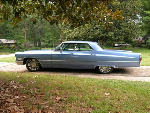 1968 Cadillac DeVille Sedan in Baby Blue