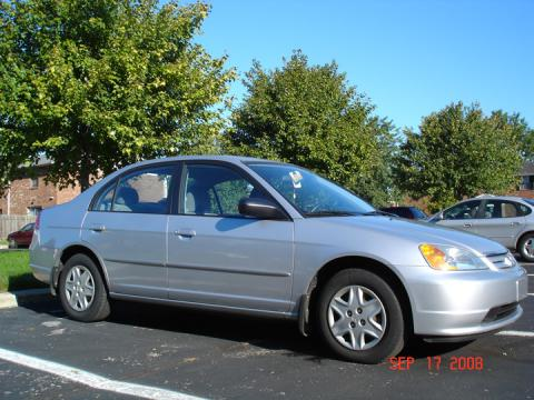 2003 Honda Civic LX Sedan in Satin Silver Metallic