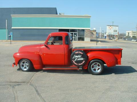 1949 Chevrolet Truck Custom 5 Window Pick Up in Bright Red