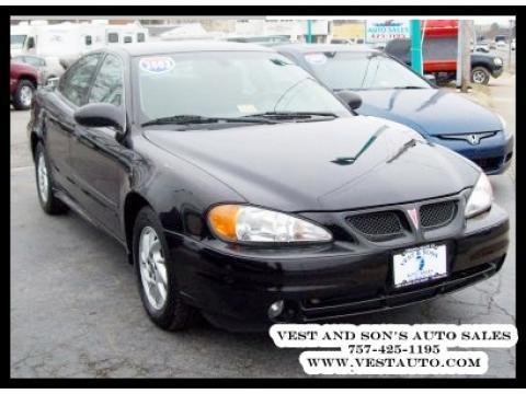 2003 Pontiac Grand Am SE Sedan in Black