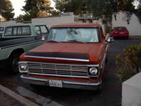 1969 Ford F100 Ranger in Orange