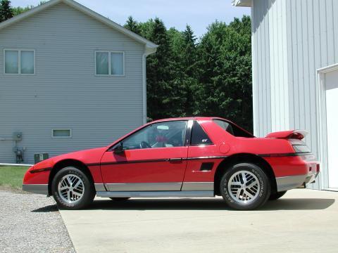 1986 Pontiac Fiero Interior. Red 1985 Pontiac Fiero GT with