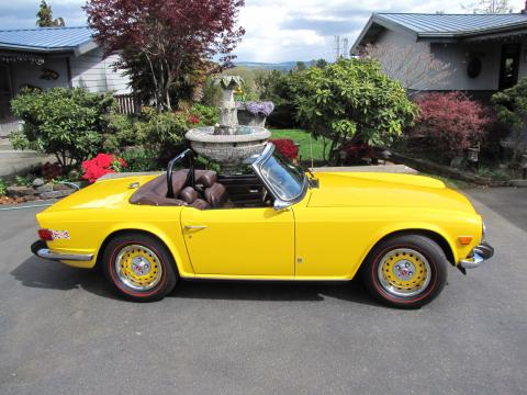 1974 Triumph TR6  in Yellow